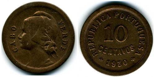 10 Centavo Portogallo / Cape Verde (1456 - 1975) Bronzo