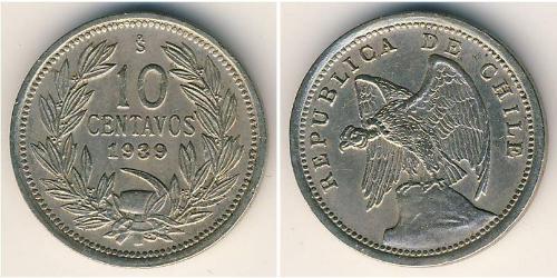 10 Centavo Cile Rame/Nichel