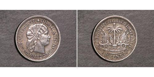10 Centime Haití Plata