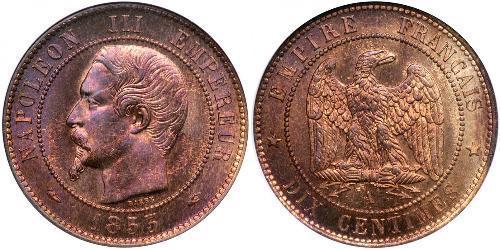 10 Centime Secondo Impero francese (1852-1870) Rame Napoleone III (1808-1873)