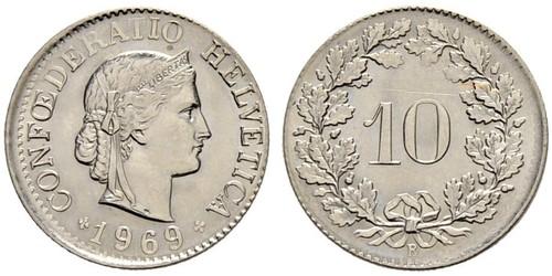 10 Centime / 10 Rappen 瑞士 銅/镍