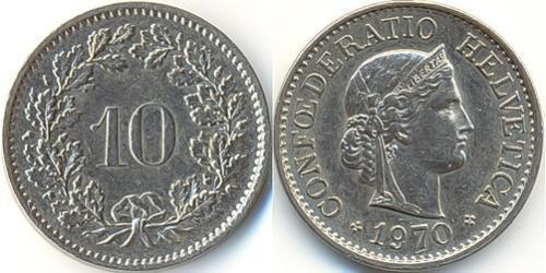 10 Centime / 10 Rappen Schweiz Kupfer/Nickel