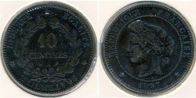 10 Centimo France Bronze