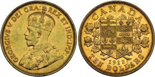 10 Dollar 加拿大 金 乔治五世  (1865-1936)