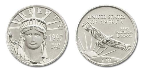10 Dollar Vereinigten Staaten von Amerika (1776 - ) Platin