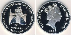 10 Dollaro Isole Salomone Argento Elisabetta II (1926-)