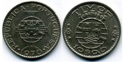 10 Escudo Portogallo / Timor Est (1702 - 1975) Rame/Nichel