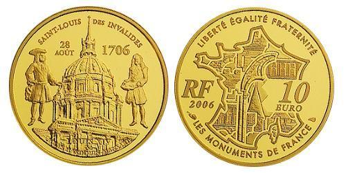 10 Euro French Fifth Republic (1958 - ) Gold