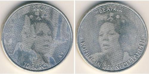 10 Euro Reino de los Países Bajos (1815 - ) Plata