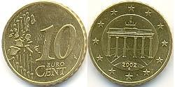 10 Eurocent Federal Republic of Germany (1990 - ) Nordic gold