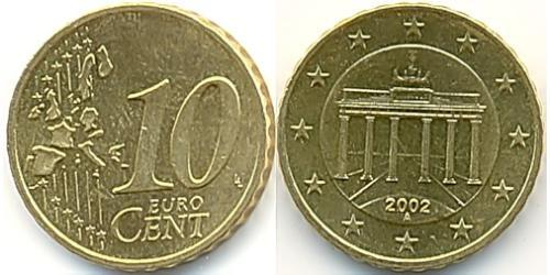 10 Eurocent Federal Republic of Germany (1990 - ) Tin/Aluminium/Copper/Zinc