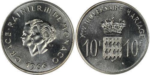 10 Franc Monaco 銀