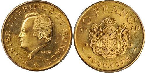 10 Franc Monaco Gold