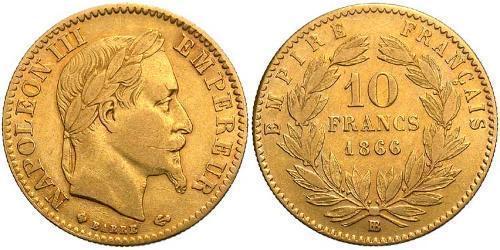 10 Franc Zweites Kaiserreich (1852-1870) Gold Napoleon III (1808-1873)