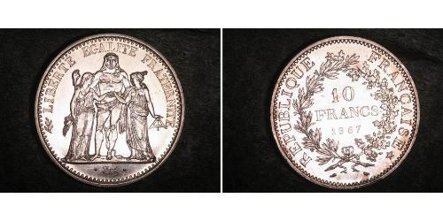 10 Franc Fünfte Französische Republik (1958 - ) Silber
