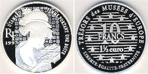 10 Franc / 1.5 Euro France Silver