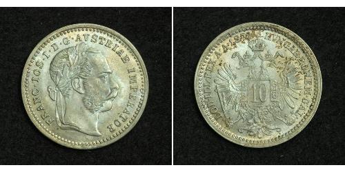 10 Kreuzer Österreich-Ungarn (1867-1918) Silber Franz Joseph I (1830 - 1916)