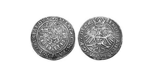 10 Kreuzer Duchy of Bavaria (907 - 1623) Silver Albert V, Duke of Bavaria (1528 – 1579)