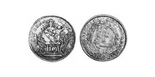 10 Kreuzer Electorate of Bavaria (1623 - 1806) Silver Maximilian III Joseph, Elector of Bavaria (1727 – 1777)