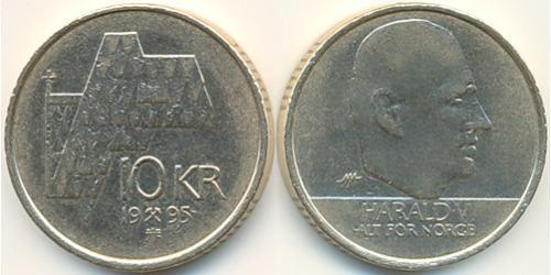 10 Krone Norway Brass