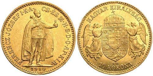 10 Krone Kingdom of Hungary (1000-1918) Gold Franz Joseph I (1830 - 1916)