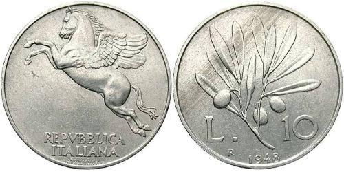 10 Lira Italien Aluminium