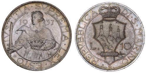 10 Lira San Marino Silver