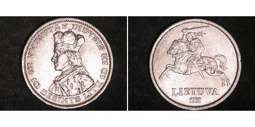 10 Litas Lituania (1991 - ) Argento