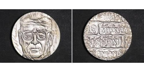 10 Mark 芬兰 銀 尤霍·库斯蒂·巴锡基维