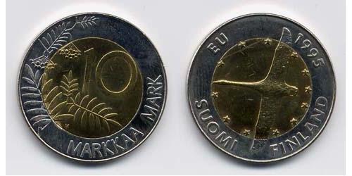 10 Mark Finlandia (1917 - ) Bimetal