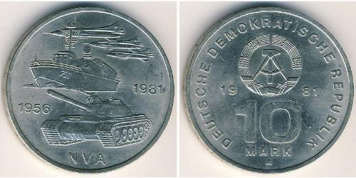10 Mark République démocratique allemande (1949-1990) Cuivre/Nickel