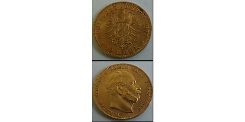10 Mark Germany Gold Wilhelm I, German Emperor (1797-1888)