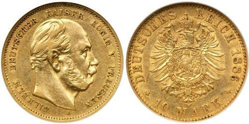 10 Mark Kingdom of Prussia (1701-1918) Gold Wilhelm I, German Emperor (1797-1888)