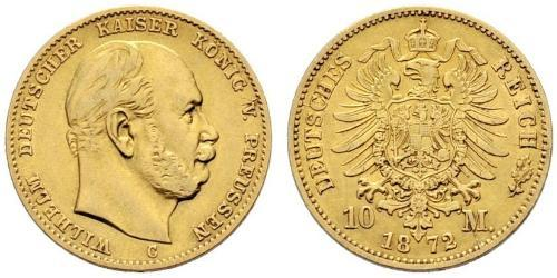 10 Mark Royaume de Prusse (1701-1918) Or Wilhelm I, German Emperor (1797-1888)