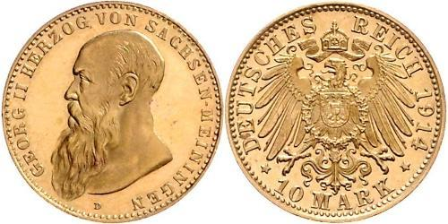 10 Mark Ducado de Sajonia-Meiningen (1680 - 1918) Oro Jorge II de Sajonia-Meiningen