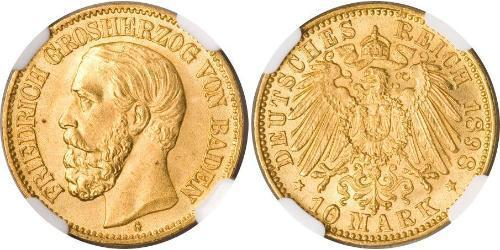 10 Mark Gran Ducado de Baden (1806-1918) Oro