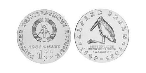 10 Mark German Democratic Republic (1949-1990) Silver