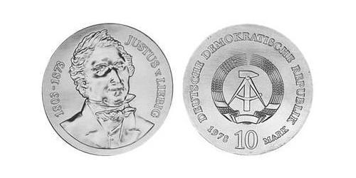 10 Mark German Democratic Republic (1949-1990) Silver