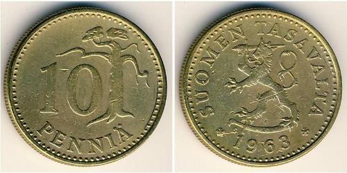 10 Penny Finland (1917 - ) Bronze/Aluminium