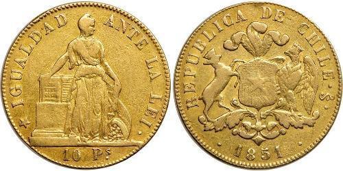 10 Peso Cile Oro