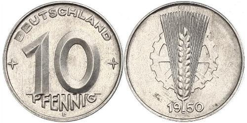 10 Pfennig République démocratique allemande (1949-1990) Aluminium