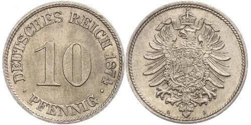 10 Pfennig Allemagne Cuivre/Nickel
