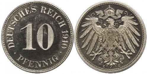 10 Pfennig Germania Rame/Nichel