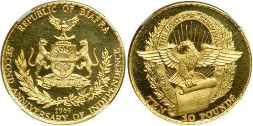 10 Pound Republic of Biafra (1967-1970) Gold