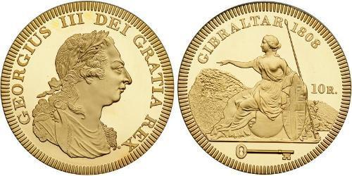 10 Real Gibraltar Gold George III (1738-1820)