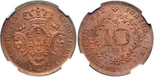 10 Reis Azzorre / Regno del Portogallo (1139-1910) Rame