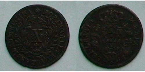 10 Reis Regno del Portogallo (1139-1910) Rame Maria I del Portogallo (1734-1816)