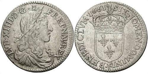 10 Sol Reino de Francia (843-1791) Plata Luis XIV de Francia (1638-1715)