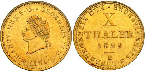 10 Thaler States of Germany Gold George IV (1762-1830)