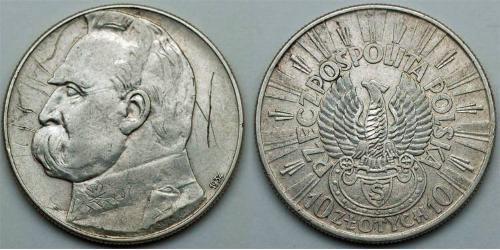 10 Zloty Deuxième République de Pologne (1918 - 1939)